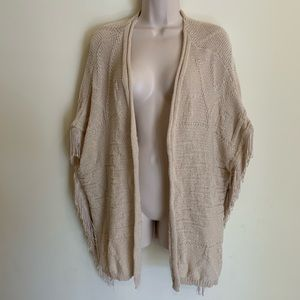 City Chic Women's Open Front Poncho Sweater